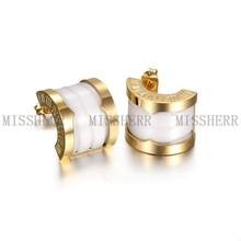 Fashion Jewelry Stud Earrings OEM/ODM Service SCE072STGCWT