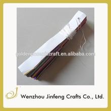 Promotional round handmade paper fan paper folding fan