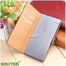 SINOTEK perfect wiredrawing craft,aa battery leather power bank ,li-polymer battery power bank 10000mah