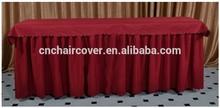 fancy decorative table skirt/ruffled table skirtings wedding table skirting
