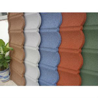 Colorful Stone Coated Metal Roofing Tile Asphalt coated steel roofing
