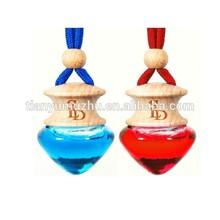 High quality 5ml peach heart glass bottle car fragrance for sale