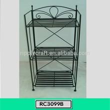Custom Design Metal Bookcase Three Shelf Rack