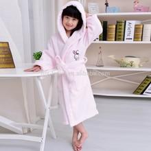 Soft cap embroidered 100 % cotton baby bathrobe