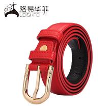 Most popular western style 100% genuine leather lady belt