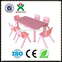 CE standard Elegant pink children study desk(QX-193I)/childrens desk/kindergarten table