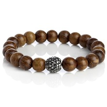 handmade men's wood beads bracelet jewelry (CSB0033)