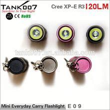 Mini Everyday Carry flashlight waterproof led torch gift lights 120 lumen led flashlight