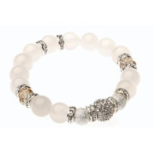 Handmade elastic agate beaded bracelet (CSB0034)