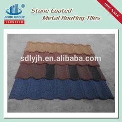 Asphalt coated steel roofing stone coated metal roof tile