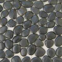 natural flat river stone black color pebble stone