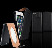 High quality wallet case for iphone5,leather mirror phone case