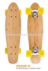 bamboo long board skateboard