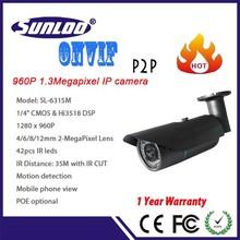 ONVIF 1.3Megapixel CCTV wireless WIFI IP camera support P2P function