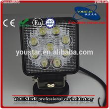 Square 27W Off road 4x4 UTV Jeep LED Lamp Led Work Light Flood Driving Light