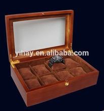 Brown woode wrist watch storage box