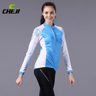 2014 CheJi Blue Women's Autumn Cycling Blue Color Wholesale Bike Sport Clothing or Ciclismo Jersey Long Sleeve Long Pants