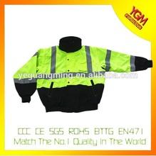multi color safety bomber mens jacket