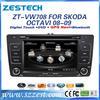 ZESTECH hot sale OEM dvd car audio navigation system for VW Skoda Octavia dvd car with navigation bluetooth TV tuner