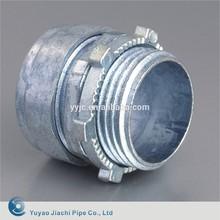 JIACHI Steel EMT Pipe Fittings , NPT Thread Zinc EMT Compression Connectors