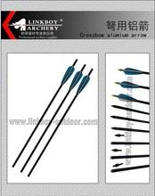 Linkboy LBA014-2 flecha de ballesta flecha de carbono para la caza de 3 paleta plástica empate de peso máximo 225lb