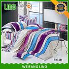 bedding rainbow/plastic bag packing bed sheet/dubai duvet cover sets