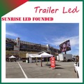 sunrise vívida luz fotos de fácil instalación del ce rohs de la publicidad de alta resolución p10 led de vídeo de vídeo formobile led publicidad t