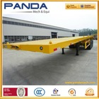 2-axle Flatbed semi trailer, Trailer parts, Container trailer