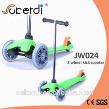 120/80mm 3 wheel plug in aluminum T bar kick kick mini scooter
