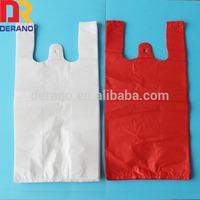 2015 plastic shopping t-shirt bags made china factory