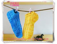 hot sale jacquard knitted boat socks compression ankle