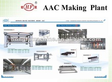 Aerated autoclaved concrete block machine 30000m3-300000m3 annual aac blocks making plant in Indonesia Jakarta and Surabaya