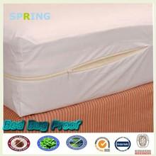 Uso en el hogar zip alrededor de plástico fundas de colchón colchón