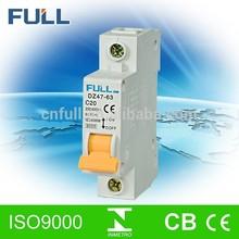 China hot sale grade A B C D ac 63A 230V circuit breaker