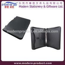 Executive Zipper File Folder A4 Leather Portfolio Binders
