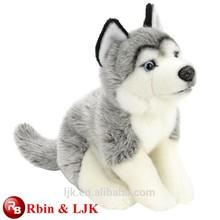 ICTI factory white wolf plush toy
