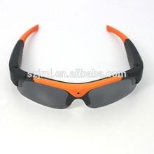 orange frame sport camera sunglasses hot selling