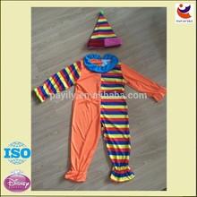vendita calda costume da clown per bambini vestiti di carnevale