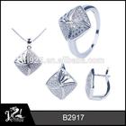 italian white gold plated jewelry sets/micro setting jewelry/pakistani bridal jewelry sets