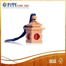 beech wood car perfum hanging,wood lid,wooden cap