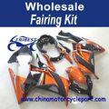 For Kawasaki NINJA300 2013 Orange And Black ABS Motorcycle Fairing Kit FFKKA002