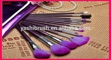 16pcs makeup brush set purple Colour for Thanks giving Day stock item