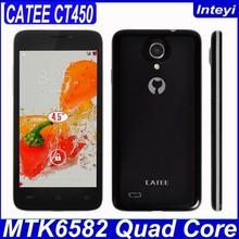 "Original Catee CT450 1GB RAM 8GB ROM MTK6582 Quad Core 3G WCDMA 4.5"" QHD 480*854 LCD mobile Cheaper 3G mobile"