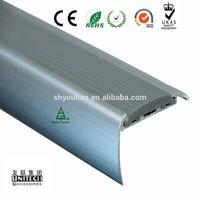 Pvc insert Aluminum Anti-slip Strips for Stairs PD50