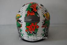 2014 ECE/DOT double visor JX-FF001 fashion ECE racing motorcycle helmet unique design