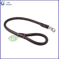 Pets Dog PU Leather Chain Training Leash Lead Strap Rope Collars