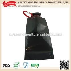 500ml Black foldable water bottle