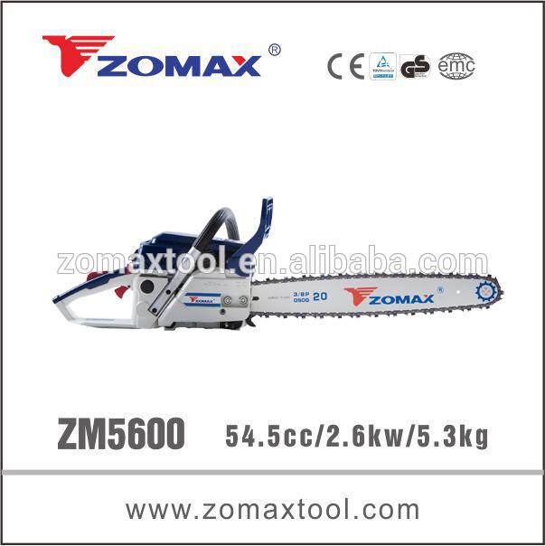 Caldo- vendita zomax zm5600 motosega ombrello con lama
