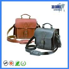 Hot sale promotional waterproof shoulder leather camera bag