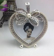 New products! Full Rhinestone Heart shaped Mini baby phofo frame for house decoration
